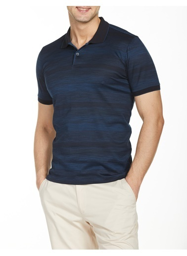 Bisse TS20Y20101 Polo Yaka T'Shirt Lacivert